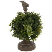 Sphere Topiary With Bird