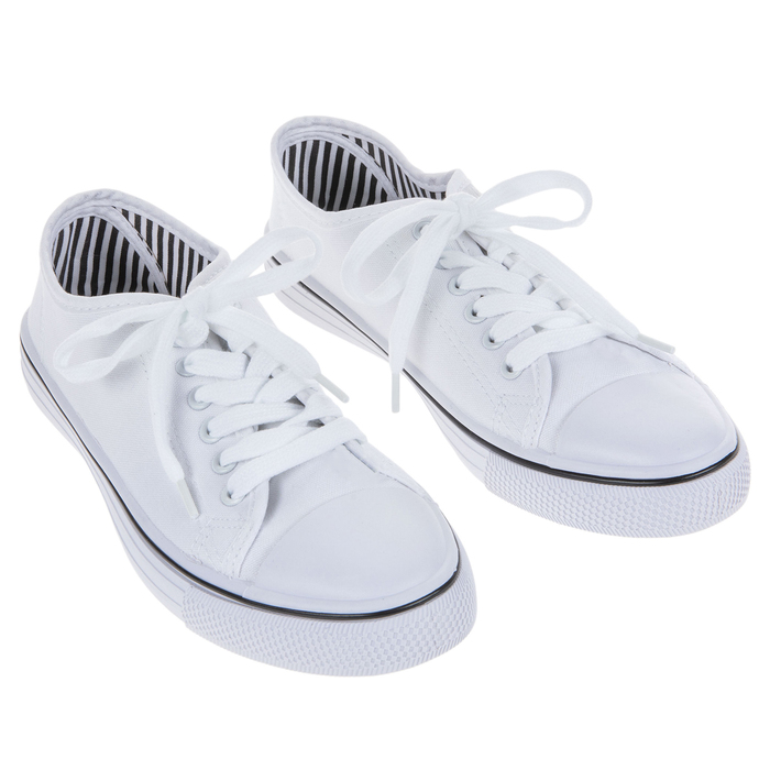 White Canvas Women's Sneakers - Size 8
