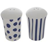 Blue & White Patterned Salt & Pepper Shakers