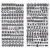 Black Alphabet Stickers