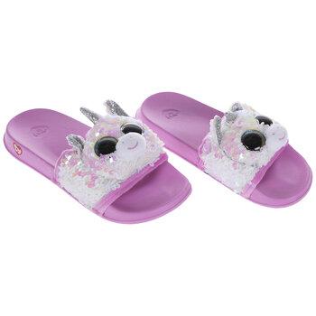 Flip Sequin Character Sandals