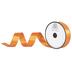Orange Double-Face Satin Ribbon - 7/8
