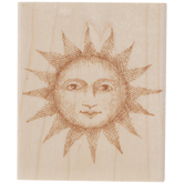 Etched Serene Sun Rubber Stamp