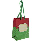 Merry Christmas Foil Dot & Stripe Gift Bag