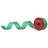 """Green Confetti Wired Edge Satin Ribbon - 1 1/2"""""""