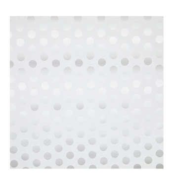 White & Silver Polka Dot Gift Wrap