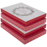 Red & White Merry Christmas Gift Boxes