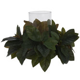 Magnolia Leaf Candle Holder Centerpiece