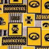 Iowa Block Collegiate Fleece Fabric