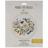 Flowers With Bee Punch Needle Kit