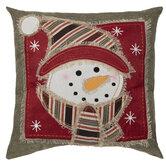 Rustic Snowman Pillow