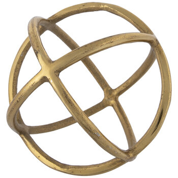 Rings Metal Decorative Sphere