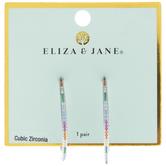 Multi-Color Cubic Zirconia Hoop Earrings