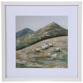 Sheep Flock Framed Wall Decor