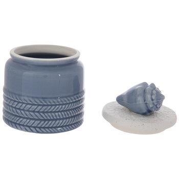Blue & White Seashell Jar