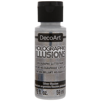 Silver Illusion Holographic Illusions DecoArt Acrylic Paint