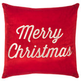 Red & Champagne Merry Christmas Pillow