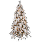 Berkshire Flocked Spruce Pre-Lit Christmas Tree - 7 1/2'