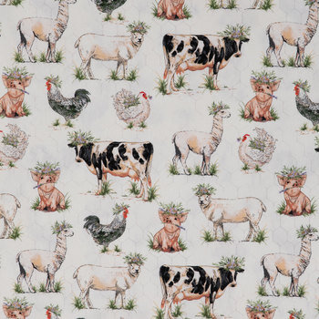 Fancy On The Farm Duck Cloth Fabric