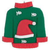 Santa Hat Ugly Sweater Ornament