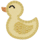 Rubber Duck Glitter & Rhinestone Sticker