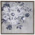 Gray Floral Wood Wall Decor