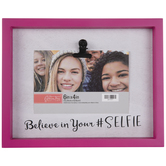 "Believe In Your Selfie Wood Clip Frame - 6"" x 4"""