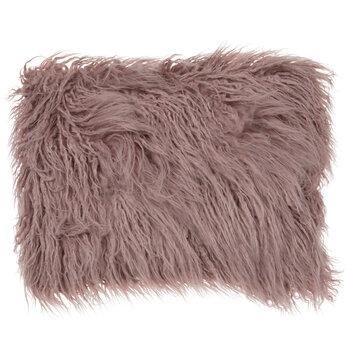 Pink Shaggy Faux Fur Pillow