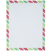 Red & Green Diagonal Striped Stationery