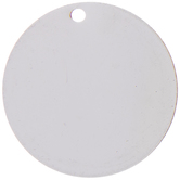 """Silver Plated Circle Stamping Blanks - 1"""""""