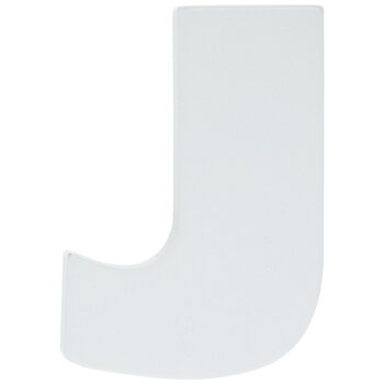 """White Wood Letters J - 2"""""""