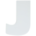 White Wood Letters J - 2