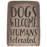 Dogs Welcome Garden Stone