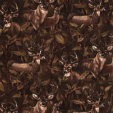 Deer In Forest Anti-Pill Fleece Fabric