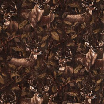 Deer In Forest Anti-Pill Fleece Fabric