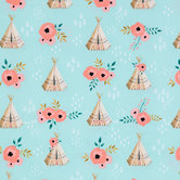 Teepees & Roses Apparel Fabric