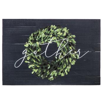 Gather Wreath Wood Pallet Wall Decor