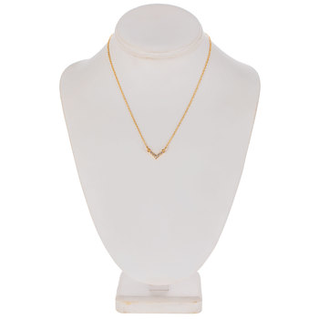 Rhinestone Chevron Chain Necklace