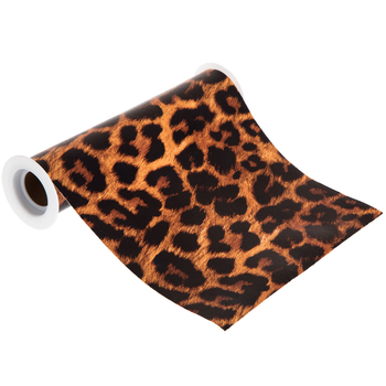 Leopard Faux Leather Ribbon - 8""