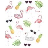 Flamingos & Pineapples Stickers