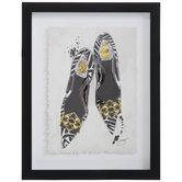 Zebra Dior Heels Framed Wall Decor