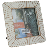 """Antique White Lined Frame - 4"""" x 4"""""""