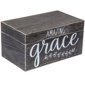 Black Amazing Grace Wood Box