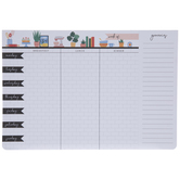 White Brick Weekly Meal Planner Pad