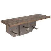 Industrial Wood Wall Shelf With Hooks