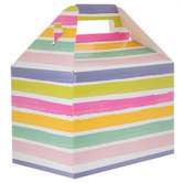 Watercolor Striped Gable Box