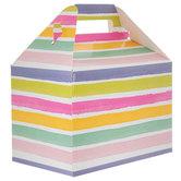 Watercolor Striped Gable Box