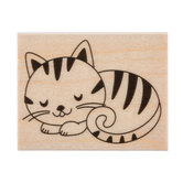 Sleeping Kitten Rubber Stamp