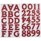Red Glitter Monster Alphabet Stickers
