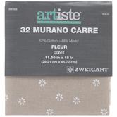 Beige & White Floral 32-Count Murano Carre Cross Stitch Fabric